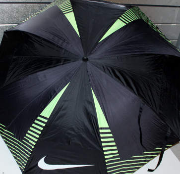 "Nike 62"" Double Canopy Golf Paraply 2015 - sort/volt"