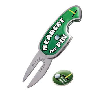 """Pitch Fork med """"Nearest the pin"""" og markeringsmærke"""
