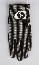 Mønstret Damehandske i Cabretta Leather (Polka Dot) - venstre hånd