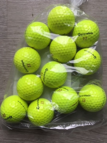 12 stk. Taylormade Project (a) - GULE - Grade Pearl/A